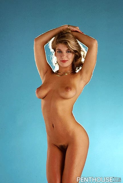 Holly O posing nude for the May 1984 issue of Penthouse