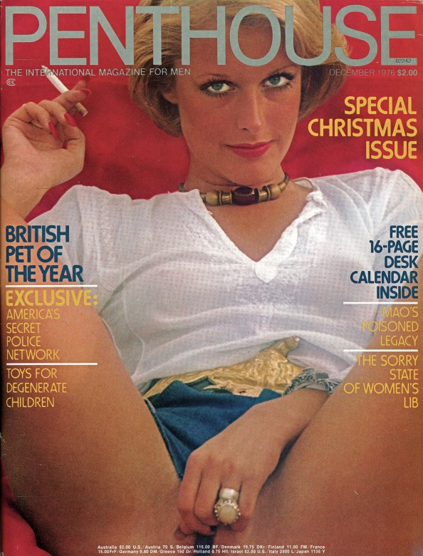 Jane Hargrave on the cover of Penthouse magazine