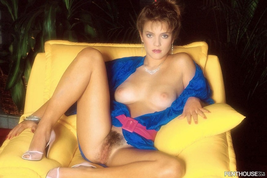 Jill Shawntai posing nude for the December 1986 issue of Penthouse