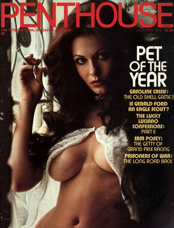 Laura Bennett Doone on the cover of Penthouse magazine