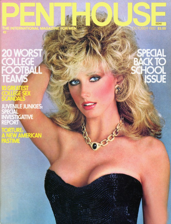 Laurie LOranger on the cover of Penthouse Magazine