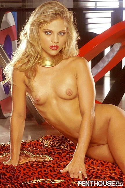 Leah Maree Willis posing nude for the March 1999 issue of Penthouse