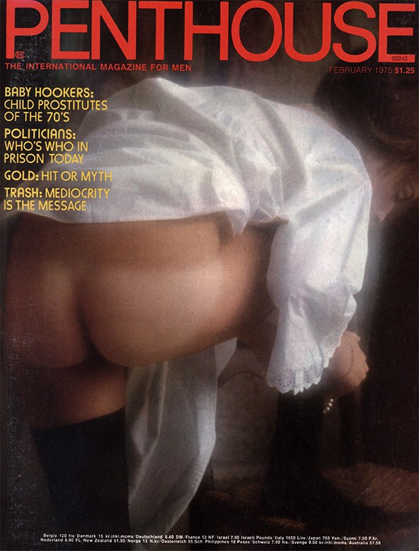 Lona Simpson on the cover of Penthouse magazine