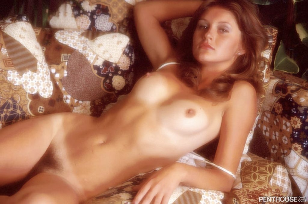 Malia Redford posing nude for the November 1978 issue of Penthouse