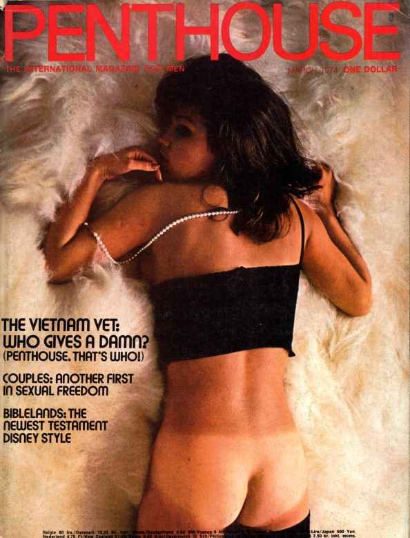 Marie Ekorre on the cover of Penthouse magazine