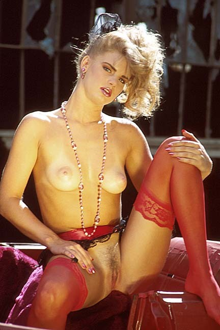 Melissa McGlathery posing nude for the November 1993 issue of Penthouse