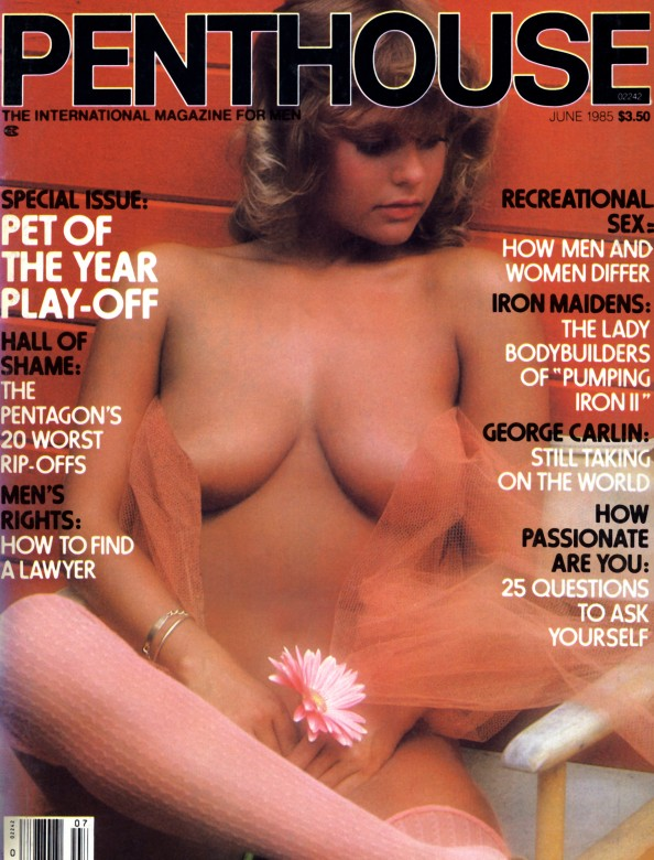 Melissa Wolf on the cover of Penthouse Magazine June 1985