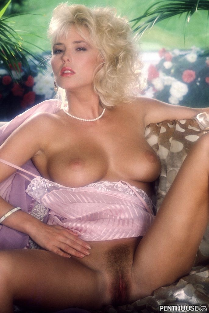 Micky Honsa posing nude for the July 1988 issue of Penthouse
