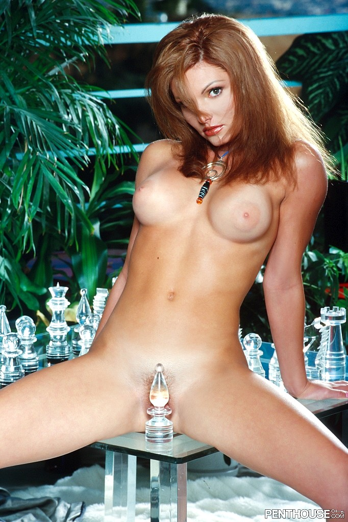 Miel Angel posing nude for the May 1999 issue of Penthouse