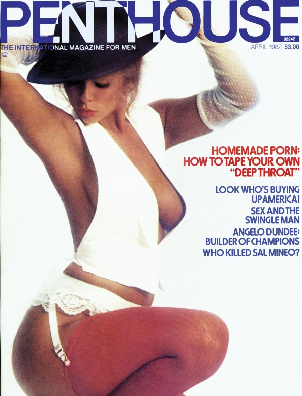 Muriel Rousseau on the cover of Penthouse Magazine