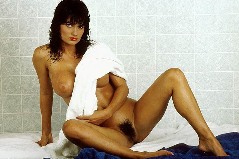 Nicole Simmons posing nude for the July 1992 issue of Penthouse