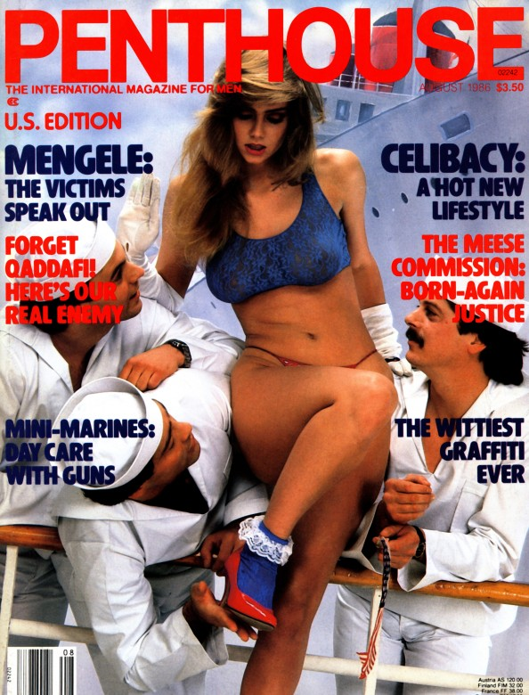 Patty Mullen on the cover of Penthouse Magazine August 1986