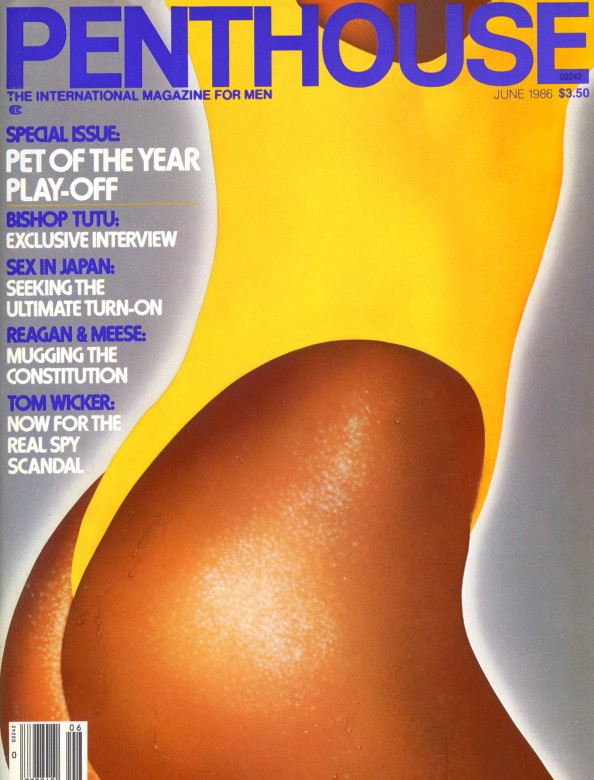 Susan Gabrielson on the cover of Penthouse Magazine June 1986