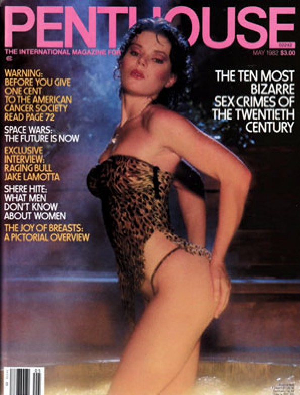 Ute Hochmeister on the cover of Penthouse Magazine