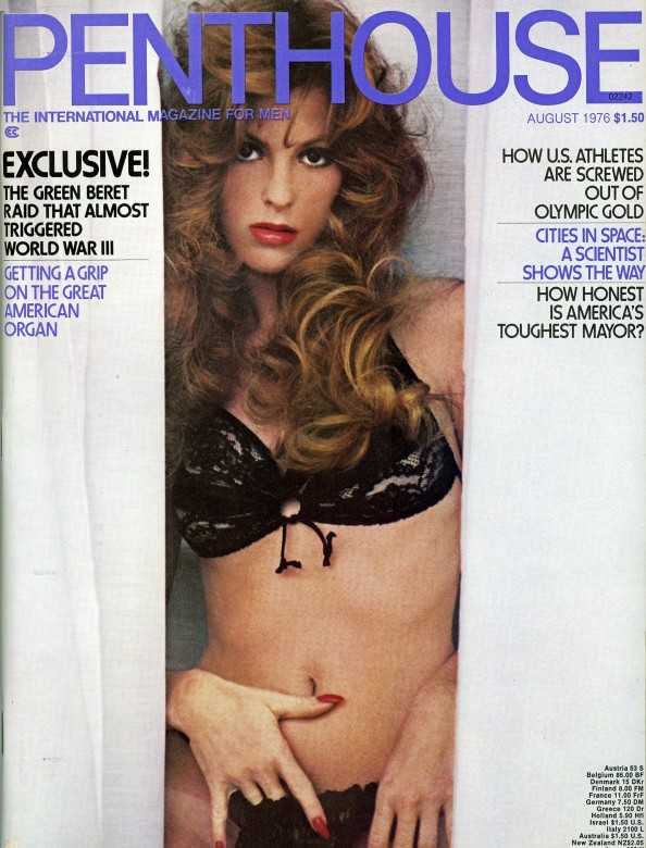 Victoria Lynn Johnson on the cover of Penthouse magazine