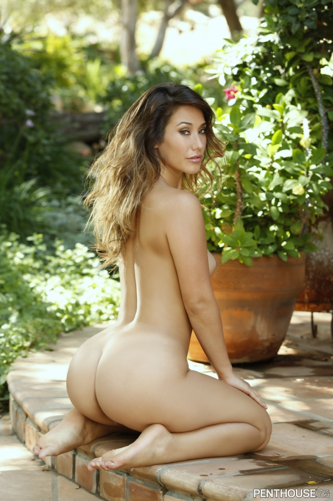 Eva Lovia posing nude for her Penthouse Pet Of The Month photo shoot 13