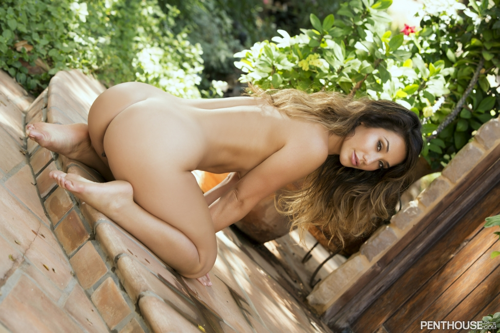 Eva Lovia posing nude for her Penthouse Pet Of The Month photo shoot 14