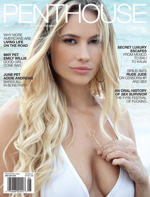 Addie Andrews on the cover of Penthouse magazine