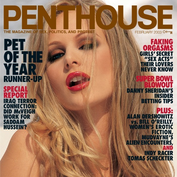 Dominique Dane on the cover of Penthouse Magazine