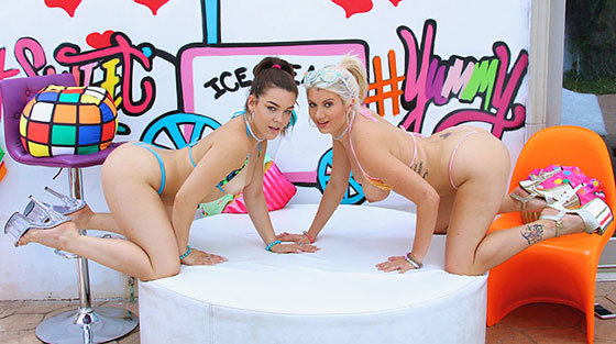 Kimber Woods, Layla Price (Rock The Cock / 08.27.2017)