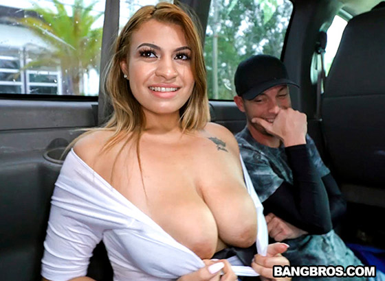 Big Tit Latina Hops on The Bus with Nickiee