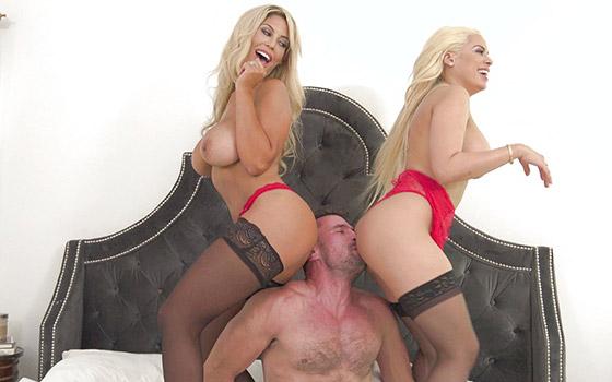 Fiery Hot Threesome with Bridgette B., Luna Star
