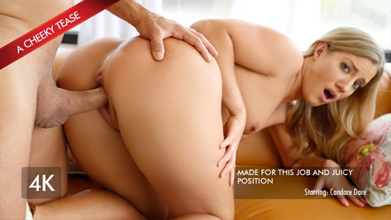 Candice Uses Her Best Assets For The Job with Candice Dare