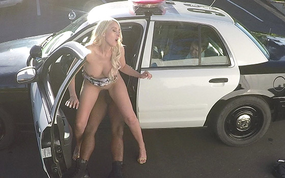 Fucks A Black Cop While Her Husband Watches In Handcuffs with Deanna Dare