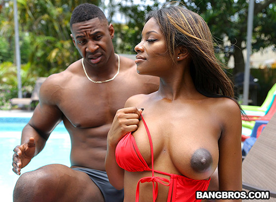Ebony Lola Gets Stepbro Dick with Lola Chanel