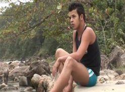 Brasileiros gay transando na praia.