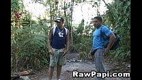 Transa gostosa de amigos na floresta