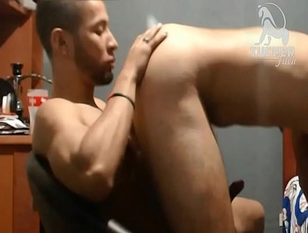 Pissing thong pussy eating gym