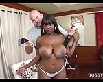 Image Chubby ebony has big boobs