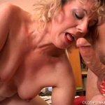 Image 50 plus mom Crystal bounces on guys cock