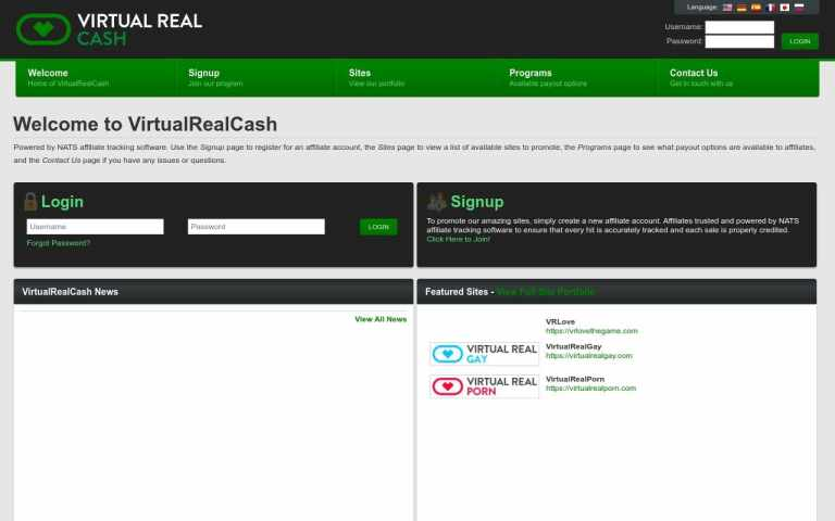Virtual Real Cash - Best Porn Affiliate Network