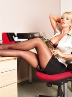 I bet you wish hot blonde Lucy Zara was working in your office don't you? She likes a big strong boss to tell her exactly what to do