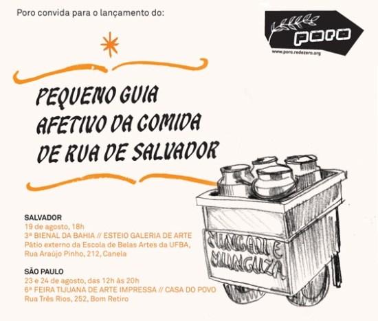Lançamento Pequeno Guia Afetivo da Comida de Rua de Salvador