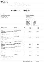 19 facture westcon africa I1333331 Page1 - Les 76 virements internationaux de 1.047.060 euros que RANARISON Tsilavo considèrent comme illicites ont une contre partie et les 76 OVs ont été signés par le plaignant lui-même : la preuve complète est ici !