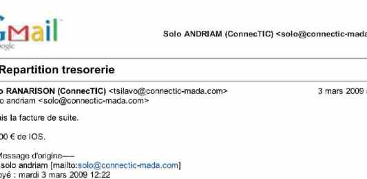 RANARISON Tsilavo dit le 3 mars 2009 quil fait de suite la facture IOS de 20.000 euros - Home