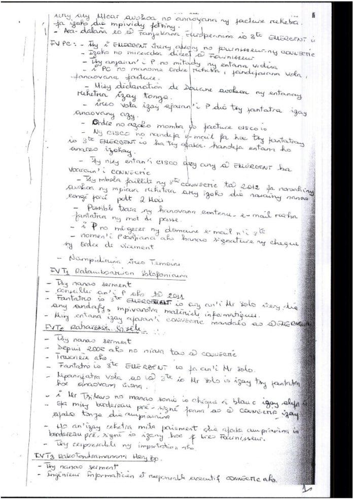 RANARISON Tsilavo extrait plumitif du 8 décembre 2015 Page2 - Décisions de justice sur l'affaire de Solo
