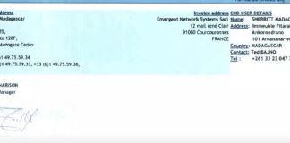 RANARISON Tsilavo NEXTHOPE signe les bons de commande de produits CISCO achétés par EMERGENT - Home