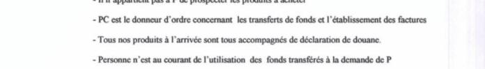 """Tous nos produits à larrivée sont tous accompagnés de déclaration de douane déclare RANARISON Tsilavo à laudience du 8 décembre 2015 - RANARISON Tsilavo affirme lors de l'audience du 8 décembre 2015 """"Tous nos produits à l'arrivée sont tous accompagnés de déclaration en douane""""  comme l'atteste les déclarations de la douane française"""