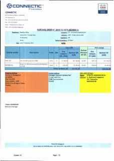 RANARISON Tsilavo ont signé les bons de commande de EMERGENT pour WESTCON Africa Page15 - En février 2009, RANARISON Tsilavo établit le premier bon de commande des produits CISCO  achetés à la société WESTCON Africa COMSTOR par EMERGENT NETWORK