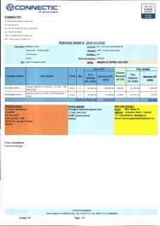 RANARISON Tsilavo ont signé les bons de commande de EMERGENT pour WESTCON Africa Page16 - En février 2009, RANARISON Tsilavo établit le premier bon de commande des produits CISCO  achetés à la société WESTCON Africa COMSTOR par EMERGENT NETWORK