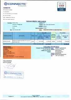 RANARISON Tsilavo ont signé les bons de commande de EMERGENT pour WESTCON Africa Page5 - Les BC des produits CISCO achetés chez WESTCON COMSTOR par EMERGENT NETWORK pour CONNECTIC sont signés par RANARISON Tsilavo
