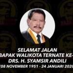 Mantan Wali Kota Ternate Syamsir Andili Wafat, Ribuan Warga Sholatkan Jenazah Almarhum di Masjid Raya Almunawar