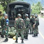 Yon Armed 9 Pasopati Gelar Latihan Pratugas Pamrahwan Maluku Utara di Kecamatan Naringgul