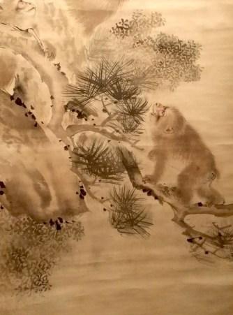 """Exposition """"Le Japon au fil des saisons"""" - Singes (détail) - Mori Sosen"""