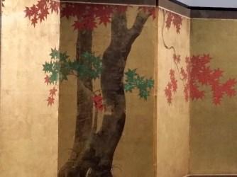"""Exposition """"Le Japon au fil des saisons"""" - Paravent (détail)"""