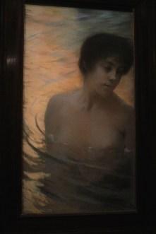 """Baigneuse"" (pastel - vers 1890/1900) - Albert Besnard"